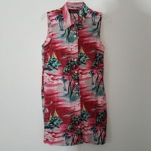 Connected Tropical Sleeveless Island Dress
